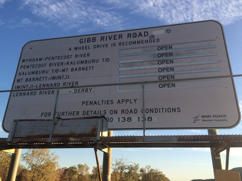 Gibb River Road Sign