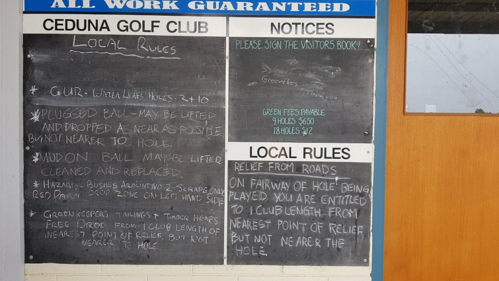 Ceduna Golf Club Rules