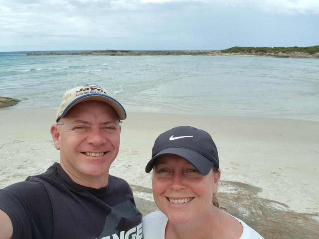 Kris and Col at Madfish Bay, William Bay National Park WA