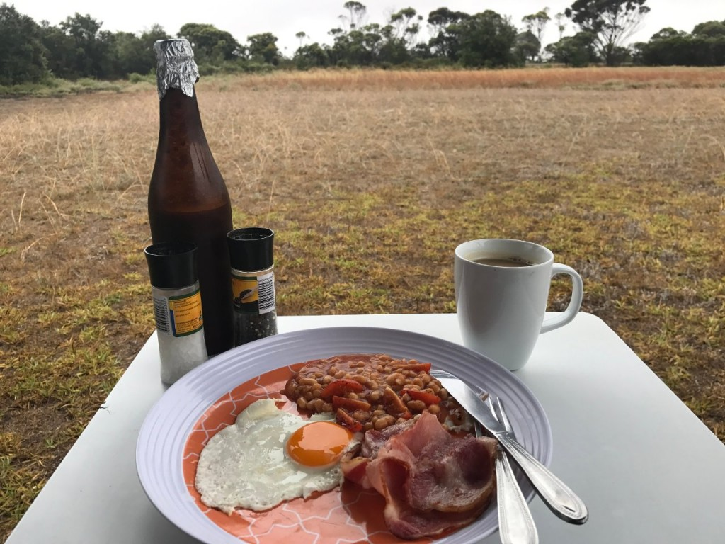 Condingup Breakfast with a view and Frank's Mum's Tomato Sauce