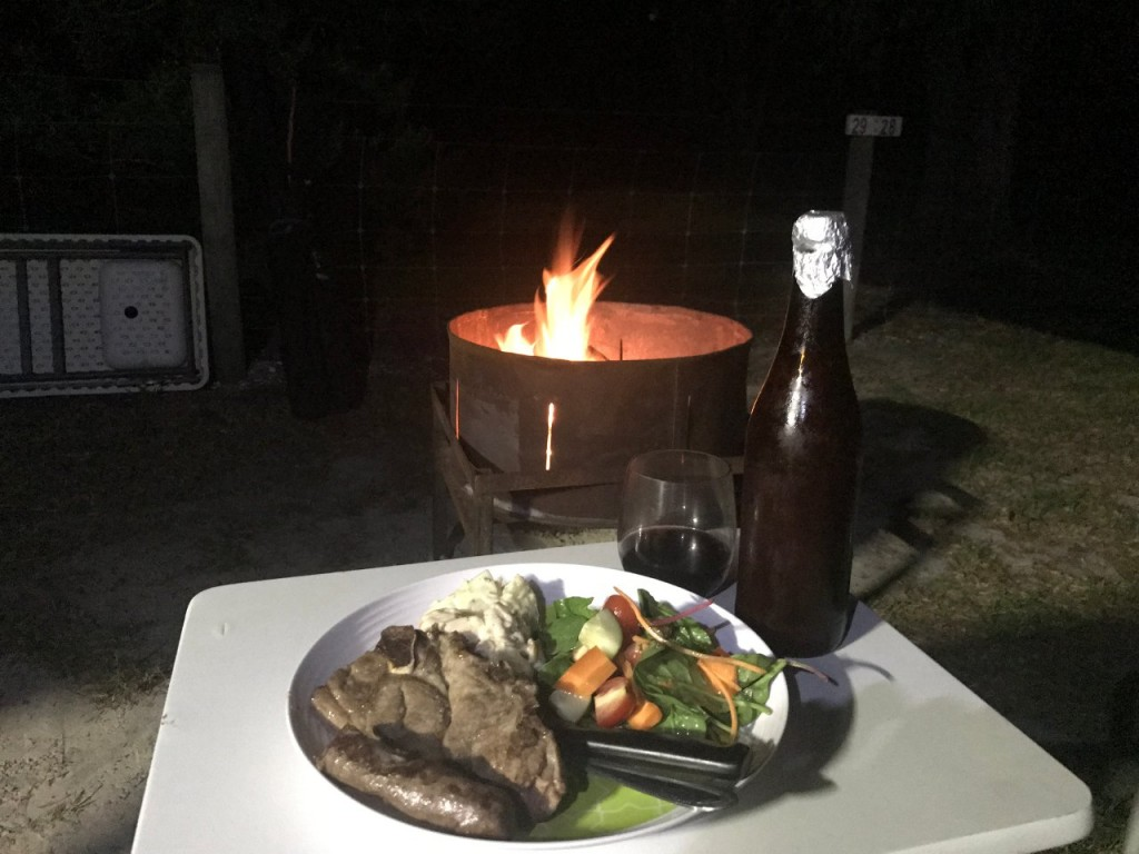 Bremer Bay Caravan Park, Dinner by the Campfire