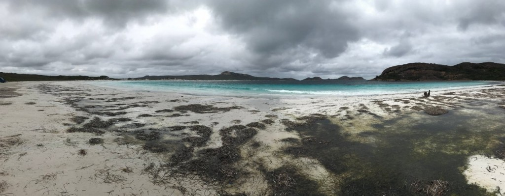 Stormy Lucky Bay at Cape Le Grand National Park