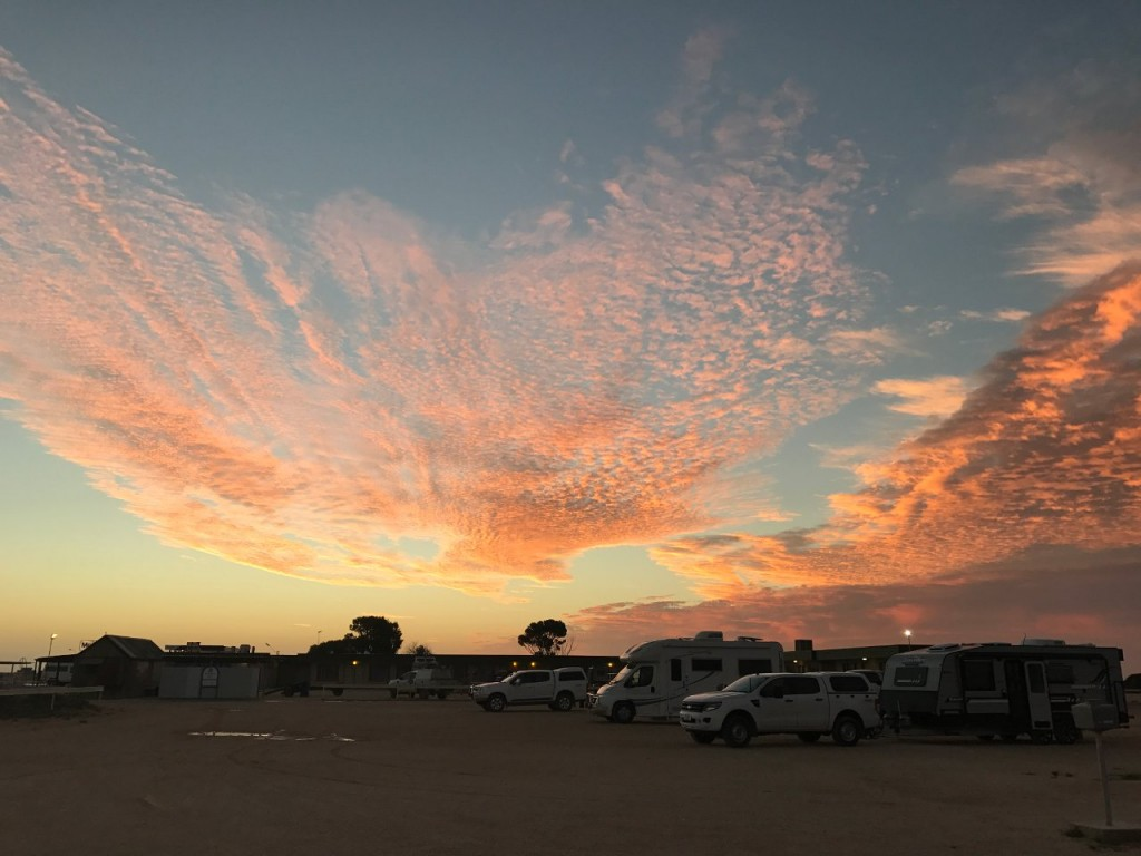 Sunset over the Nullarbor Roadhouse