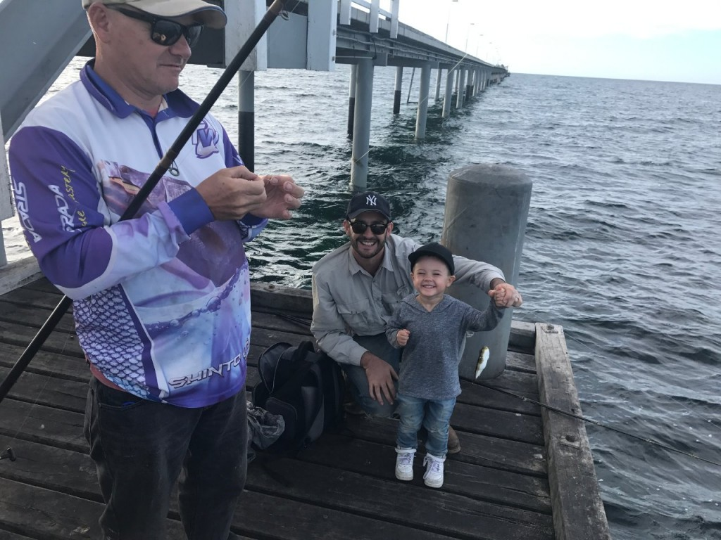 The Boys fishing on the Bussleton Jetty, WA