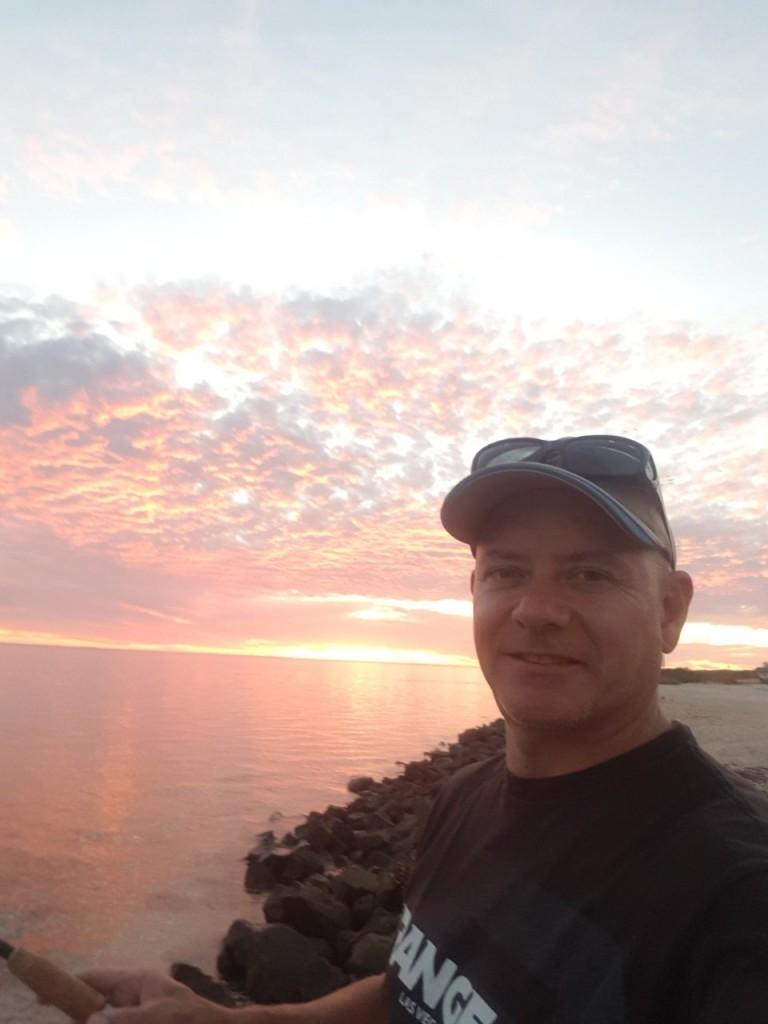 Col sunset fishing, Denham WA