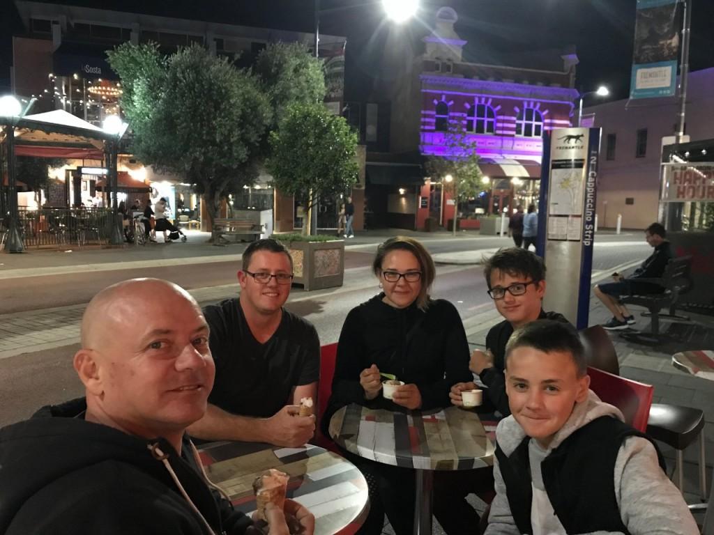 Family and Icecream, Dolce Vita Gelato, Fremantle WA
