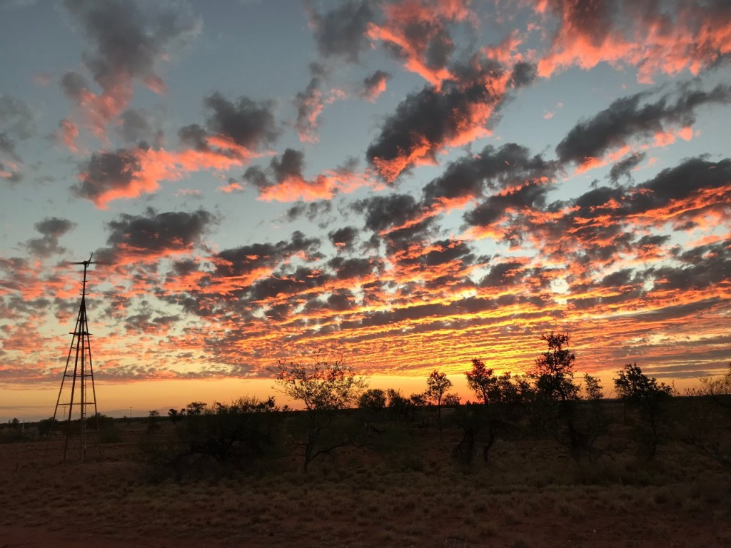Sunset over Giralia Station WA