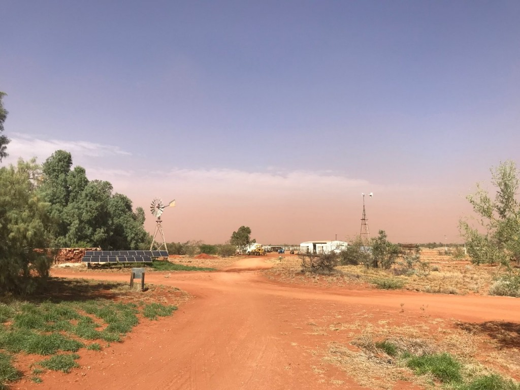 Dust Storm approaching, Giralia Station WA