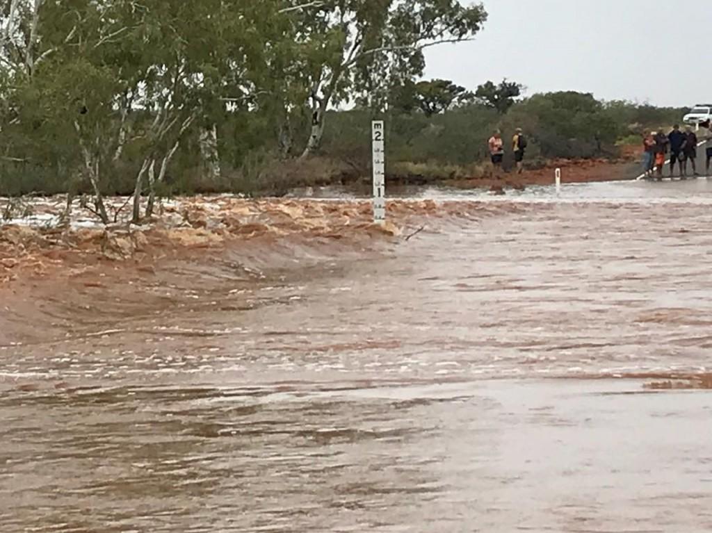 Instagram photo by James McKay, Burkett Road flooded, Giralia WA