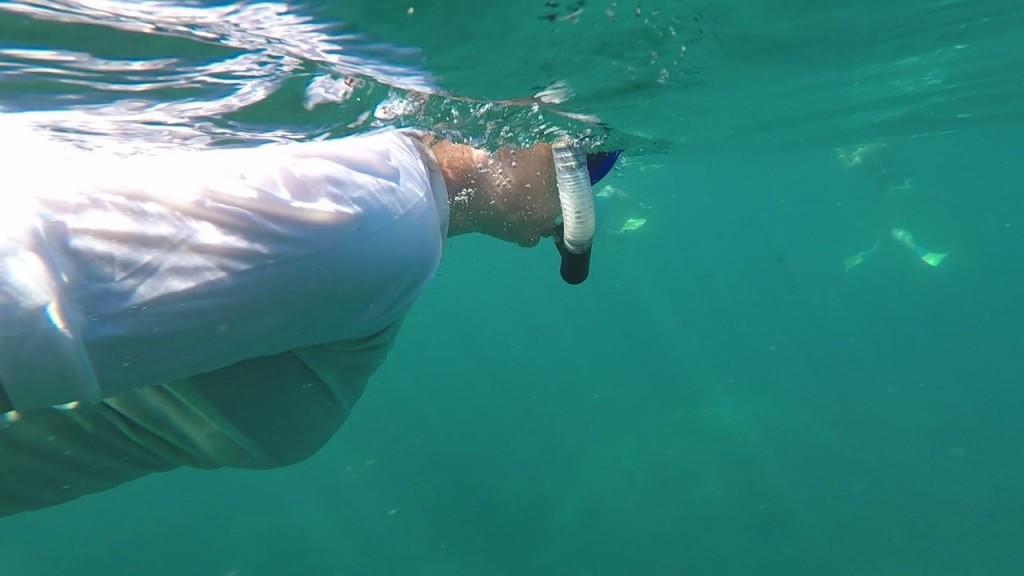 Kris snorkeling, Coral Bay WA