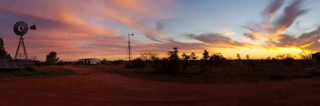 Beautiful panoramic sunset, Giralia Station WA