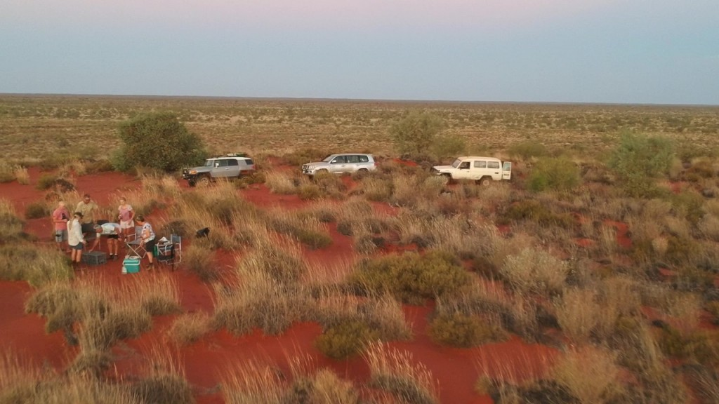 Sand dune sunset with nibbles, drinks and friends, Giralia Station WA