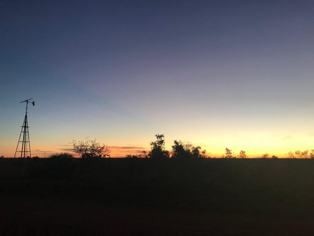 Sunset at Giralia Station WA