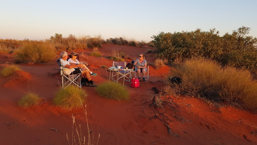 Sunset drinks and nibbles, Giralia Station Stay WA