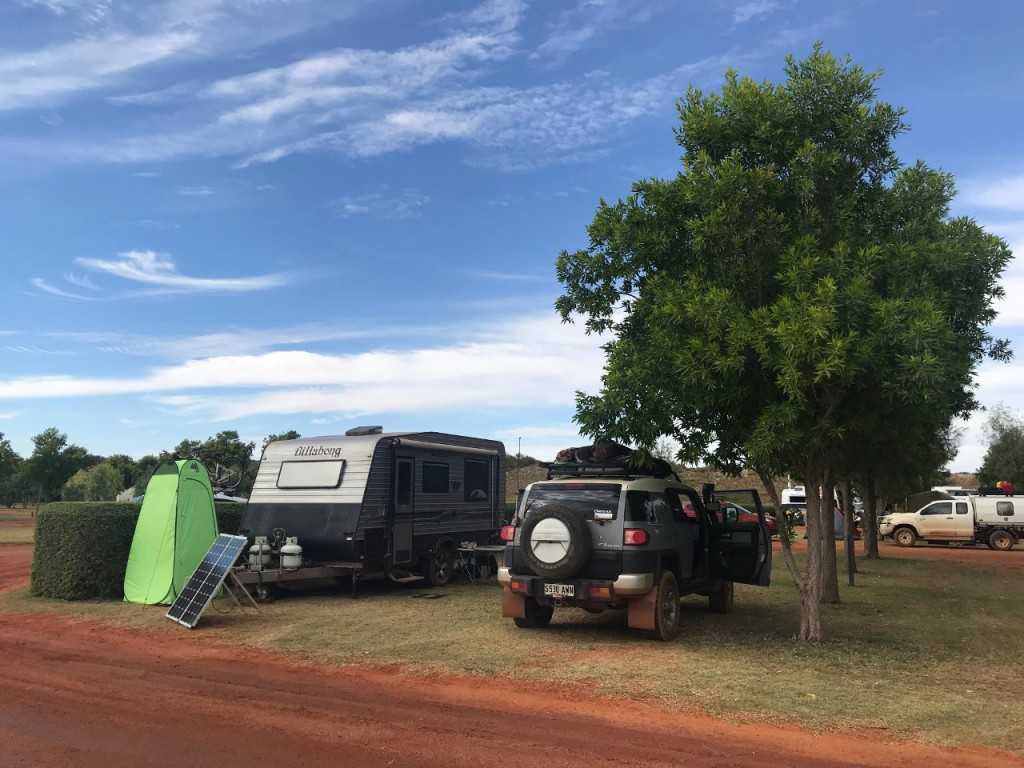 Our camp site at Eighty Mile Beach Caravan Park WA