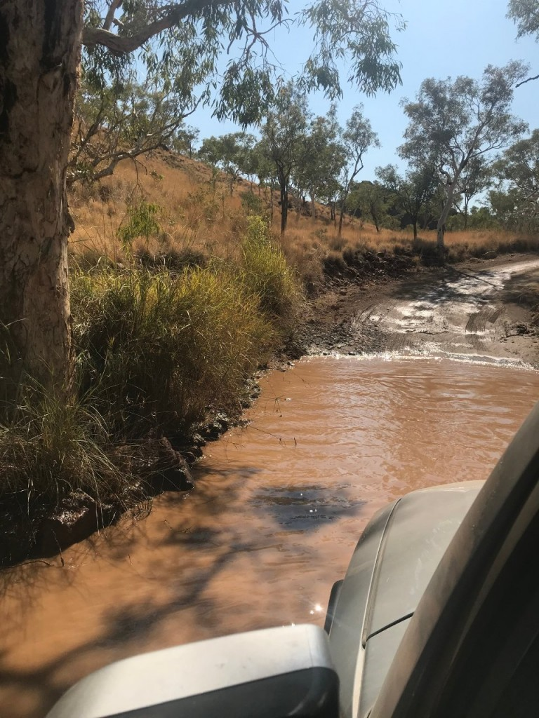 Creek Crossing, Road into Purnululu National Park to see the Bungle Bungles WA