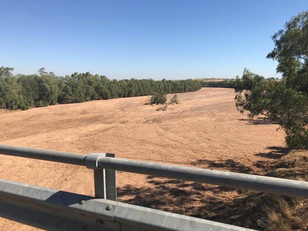 Bridge crossing dry riverbed in the Kimberley WA