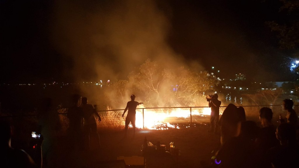 Fire at Cullen Bay, Territory Day Celebration, Darwin NT