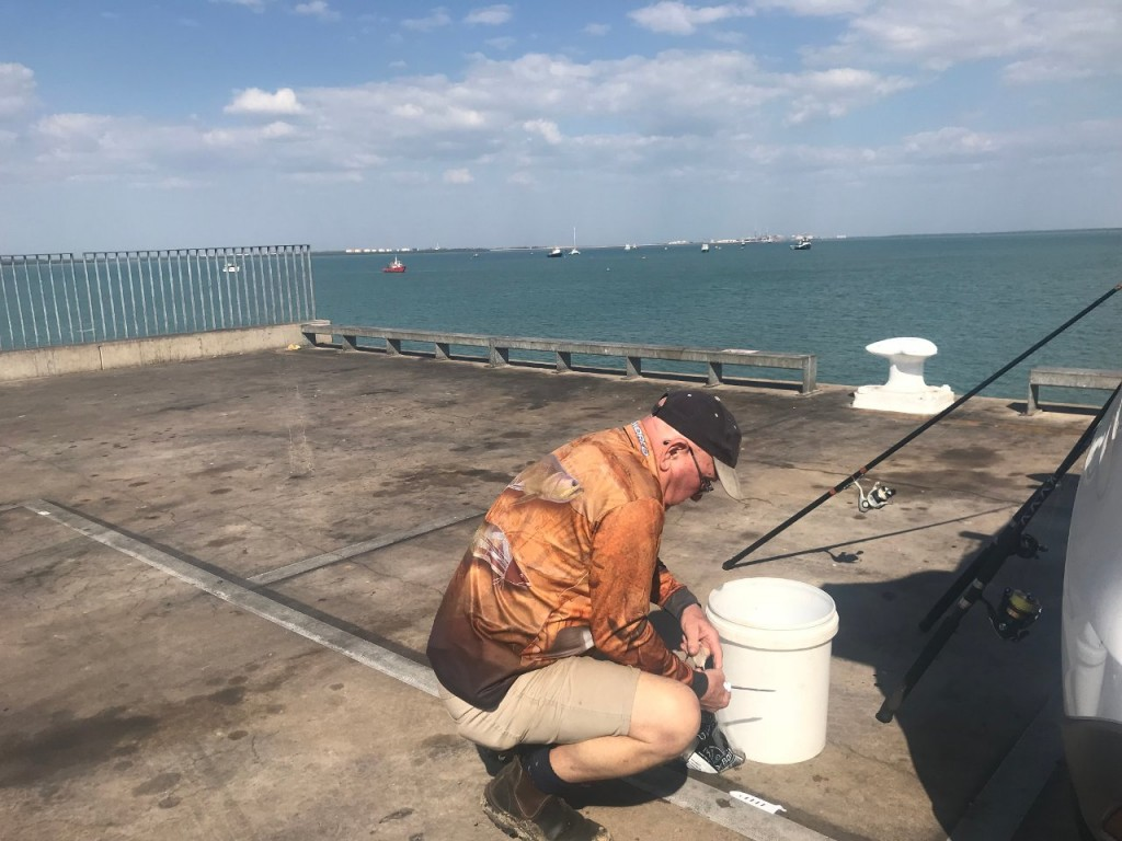 Dave on Stokes Hill Wharf, Darwin Harbour NT