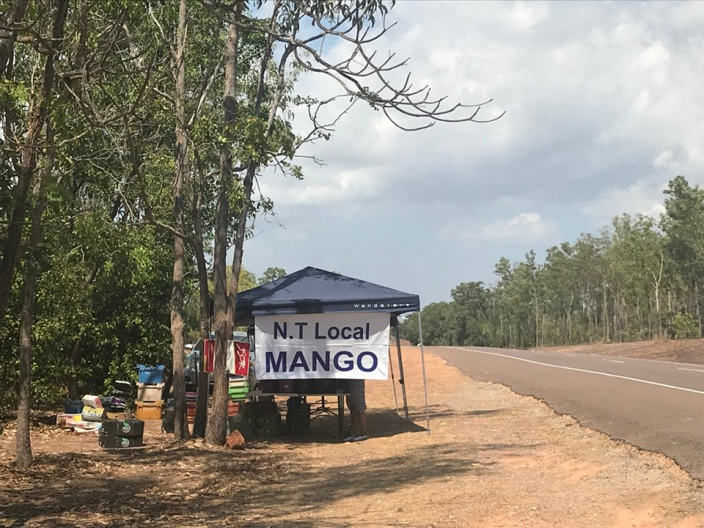 Mango stall on the way back from Dundee Beach, Stuart Highway Darwin NT