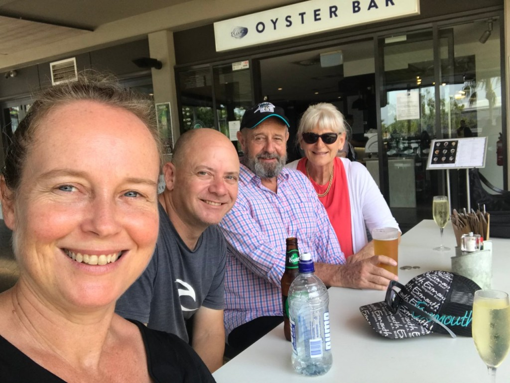 Kris, Col, Don and Dee at the Oyster Bar, Waterfront, Darwin NT