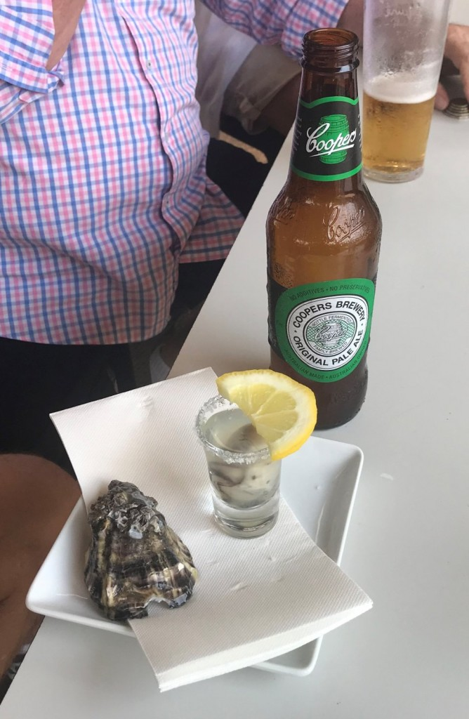 Tequila Oyster Shot, Oyster Bar, Waterfront, Darwin NT