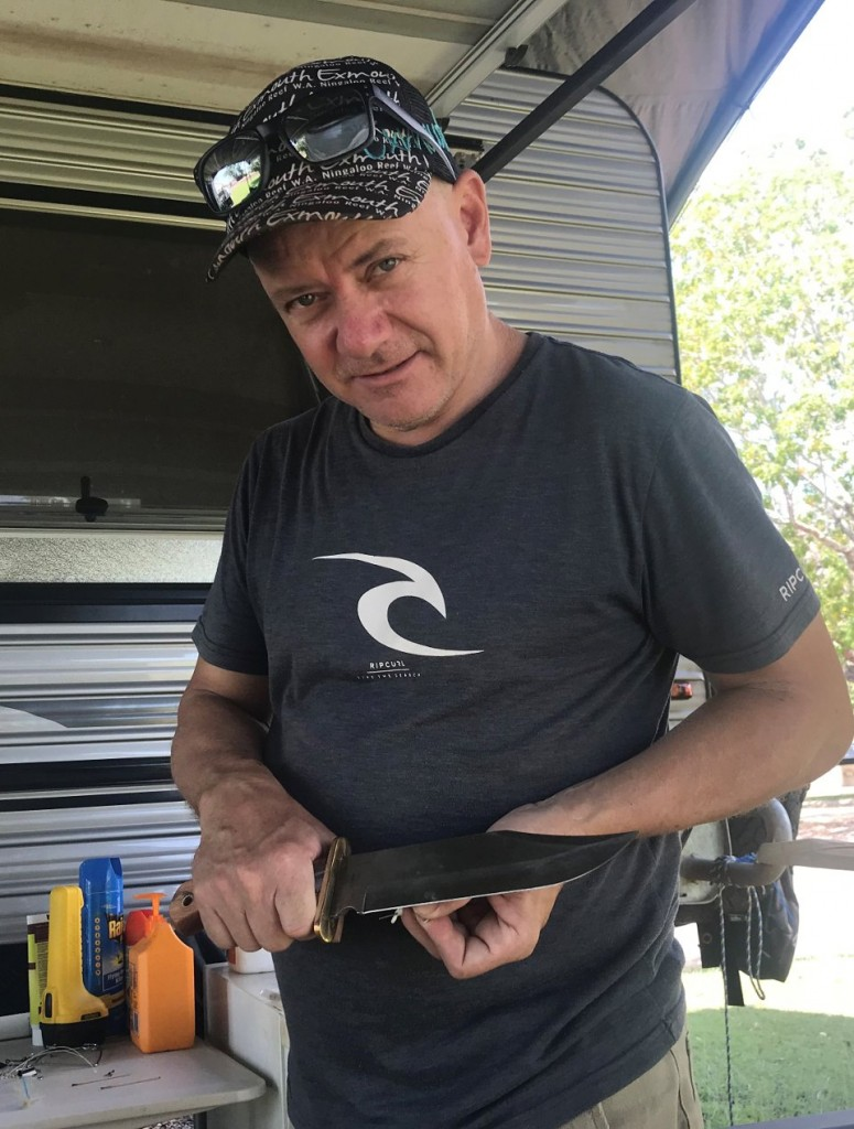 Col and his Bowie Knife, Darwin NT