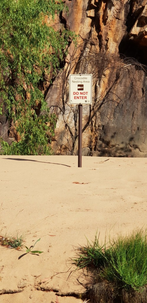 Crocodile Nesting Sign, Nitmiluk (Katherine) Gorge, Nitmiluk National Park NT
