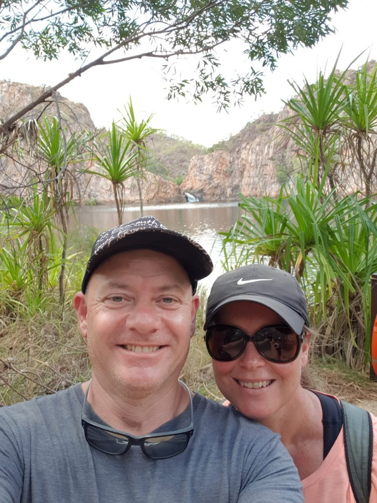 Col and Kris at Leliyn (Edith) Falls, Nitmiluk National Park NT