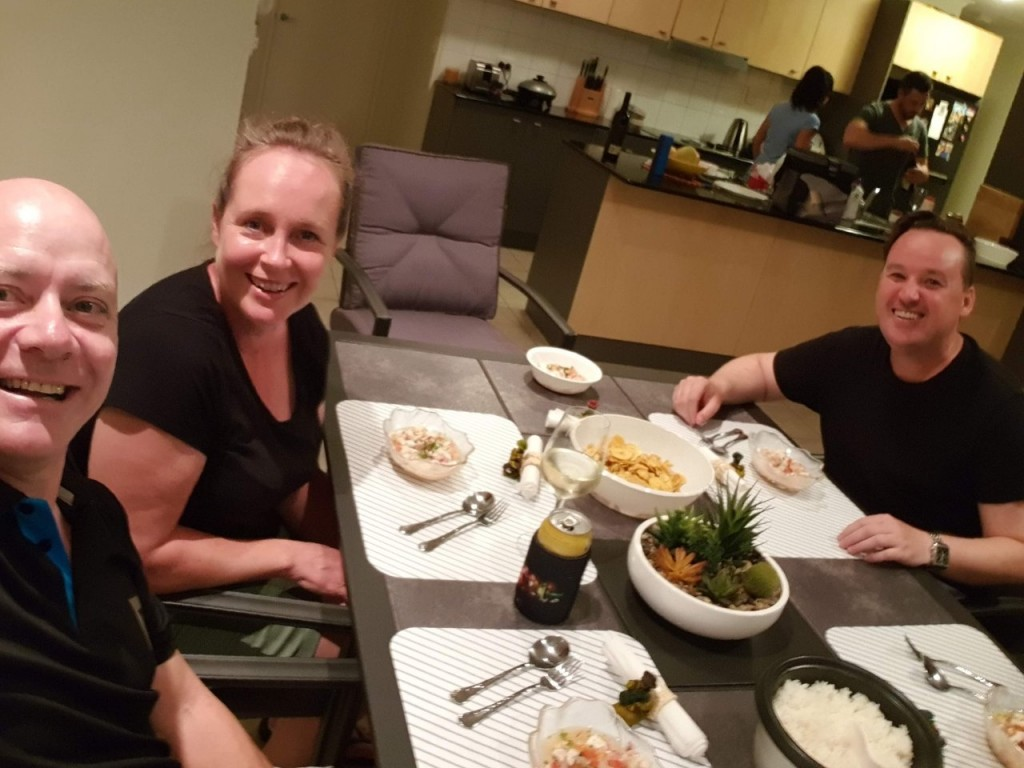 Dinner at Richo and Isabel's, Darwin NT