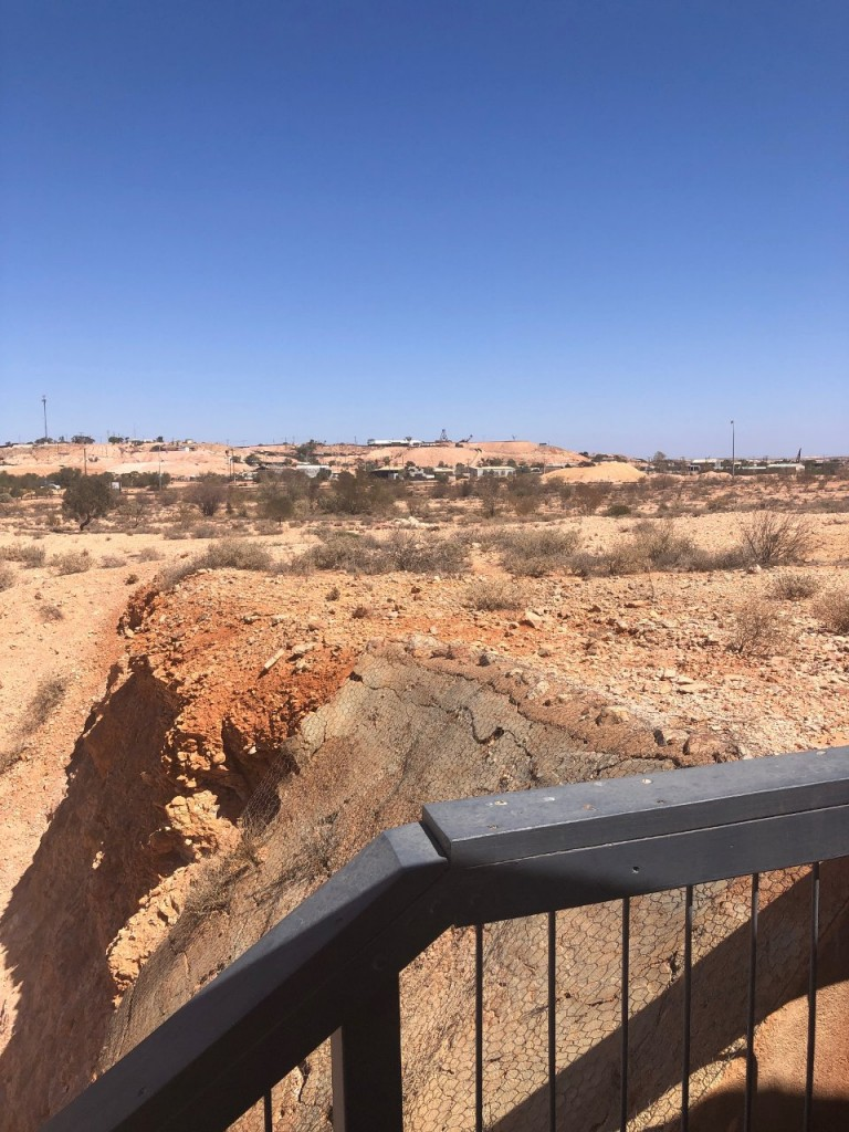 From the viewing deck of our AirBnB undergraound house in Coober Pedy SA