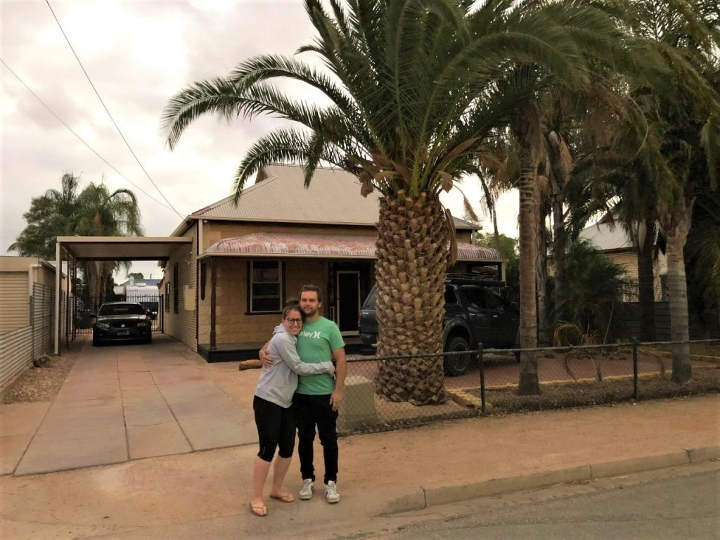 Sam and Steff at Grandpa's house in Port Pirie
