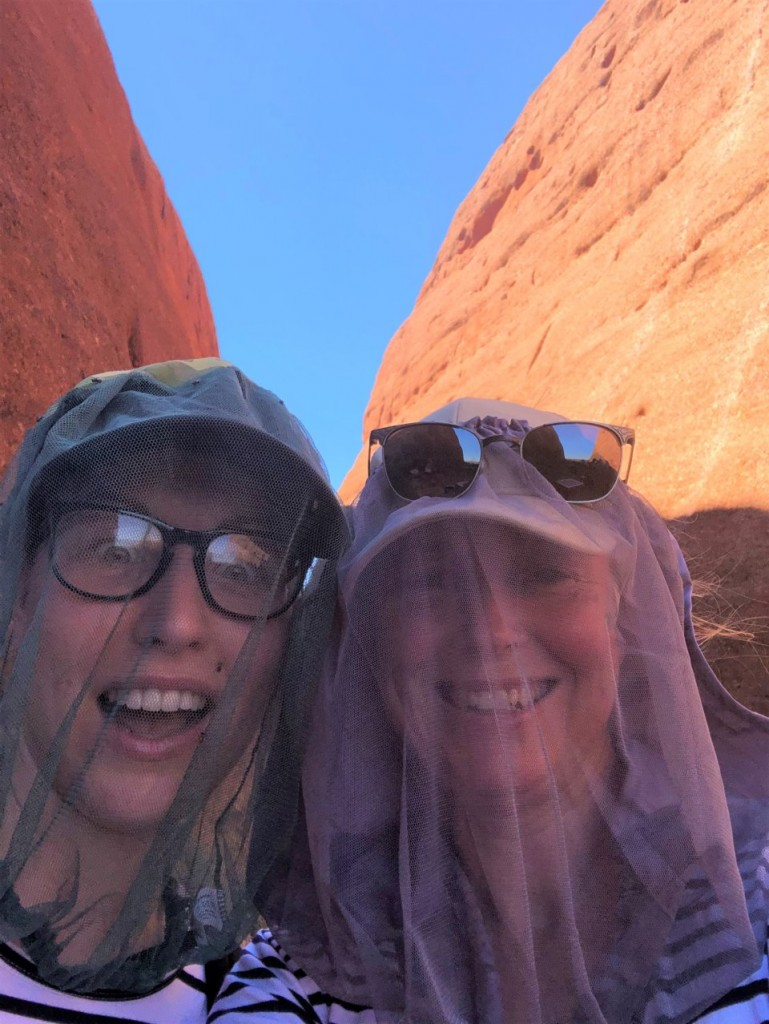 Steff and Kris on the Walpa Gorge Walk, Kata Tjuta (The Olgas) NT