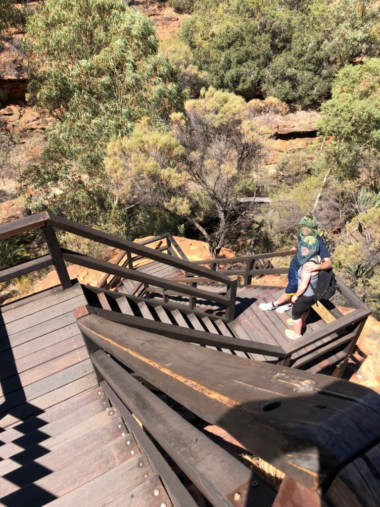 Sam and Steff at Kings Canyon, Watarrka National Park NT