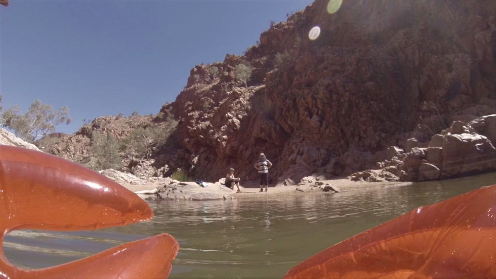 Steff and Kris not convinced and the Lobster unimpressed, Redbank Gorge, West McDonnell Ranges NT