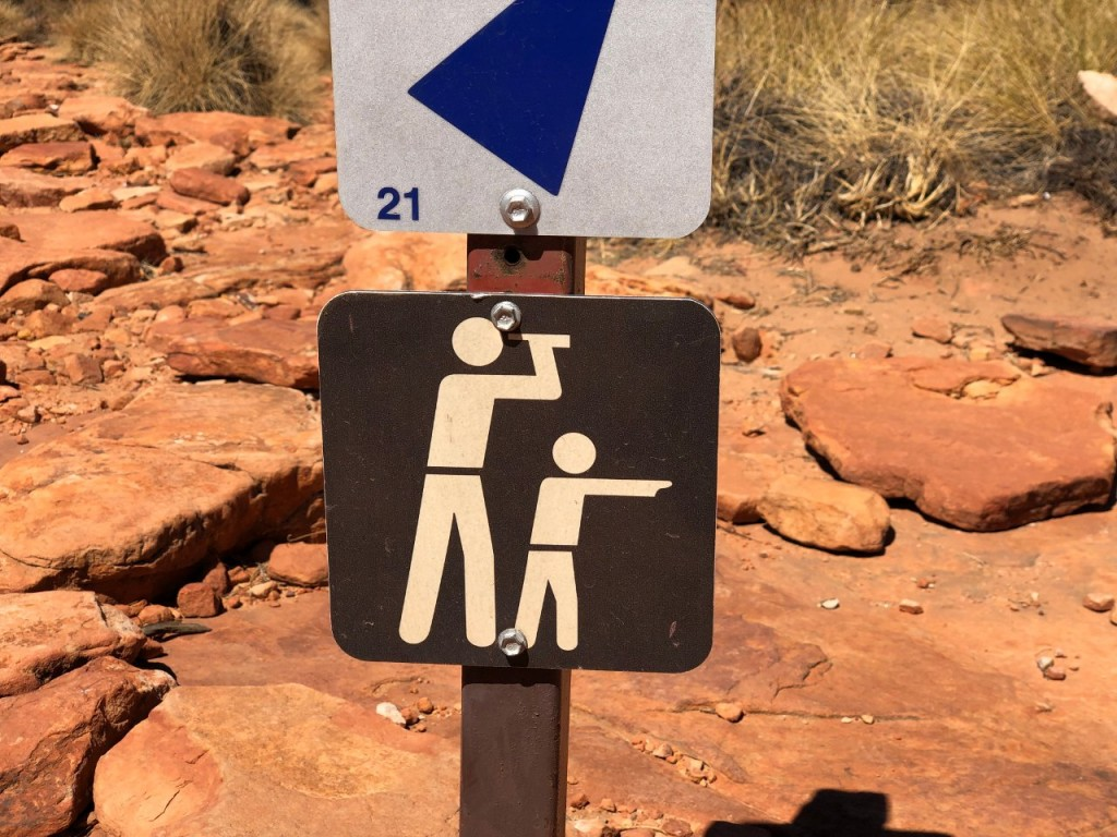 Sign at Kings Canyon, Watarrka National Park NT