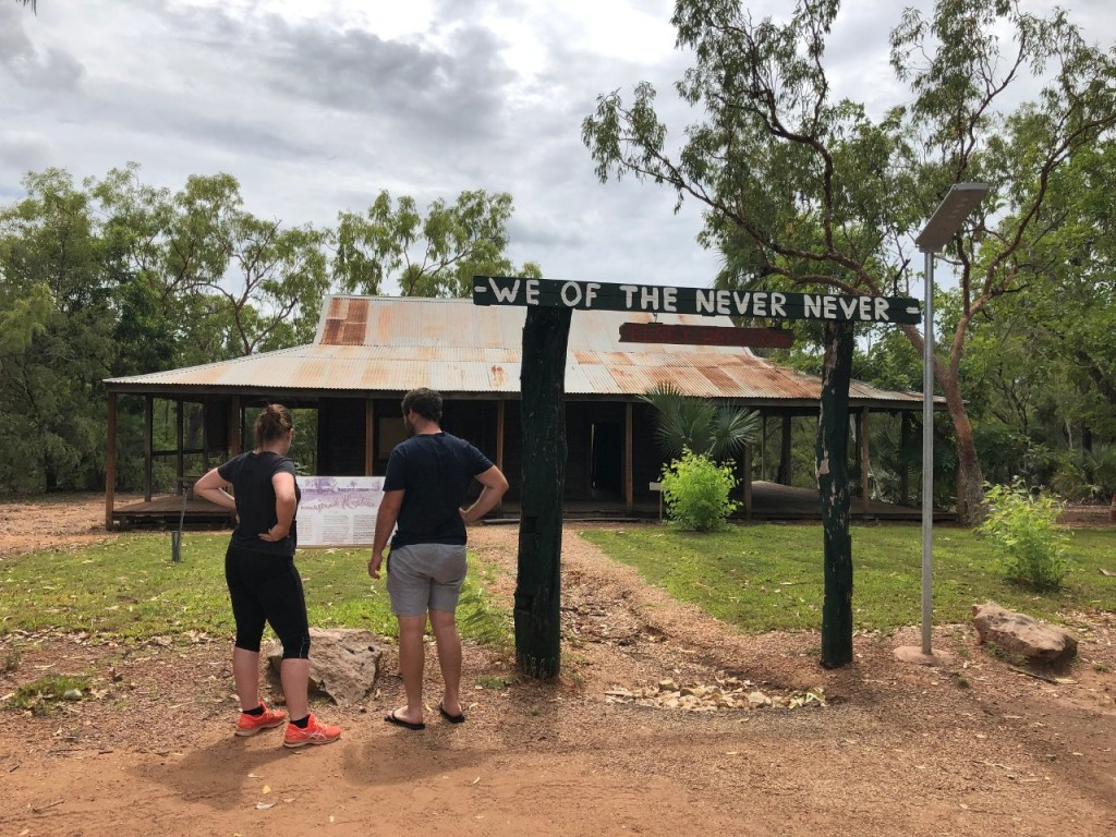 A replica of Elsey Homestead from 'We of the Never Never', Mataranka NT